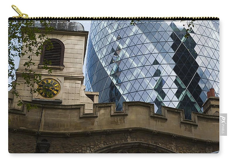 Architecture Carry-all Pouch featuring the photograph Gherkin by Svetlana Sewell
