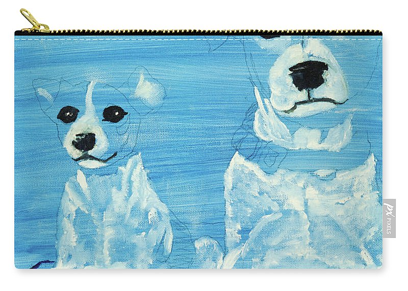 Dogs Carry-all Pouch featuring the painting Ghost Dogs by Terry Lewey