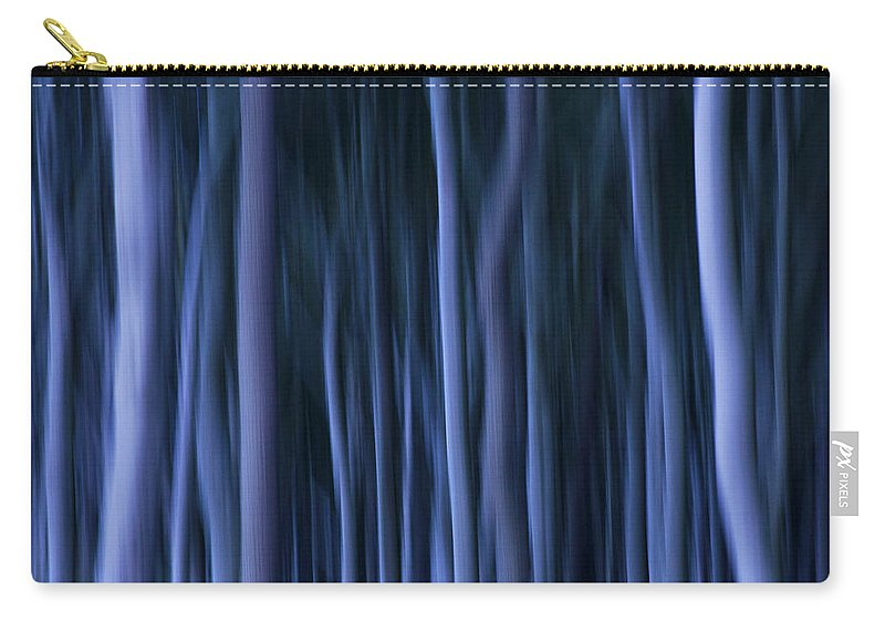 Abstract Carry-all Pouch featuring the photograph Ghost Forest by Heiko Koehrer-Wagner