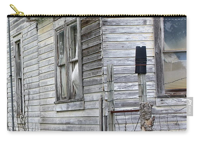 House Carry-all Pouch featuring the photograph Ghost House by Terry Fleckney
