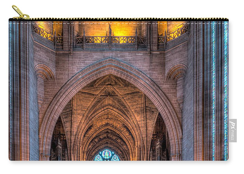 Aisle Carry-all Pouch featuring the photograph Ghost In The Cathedral by Adrian Evans