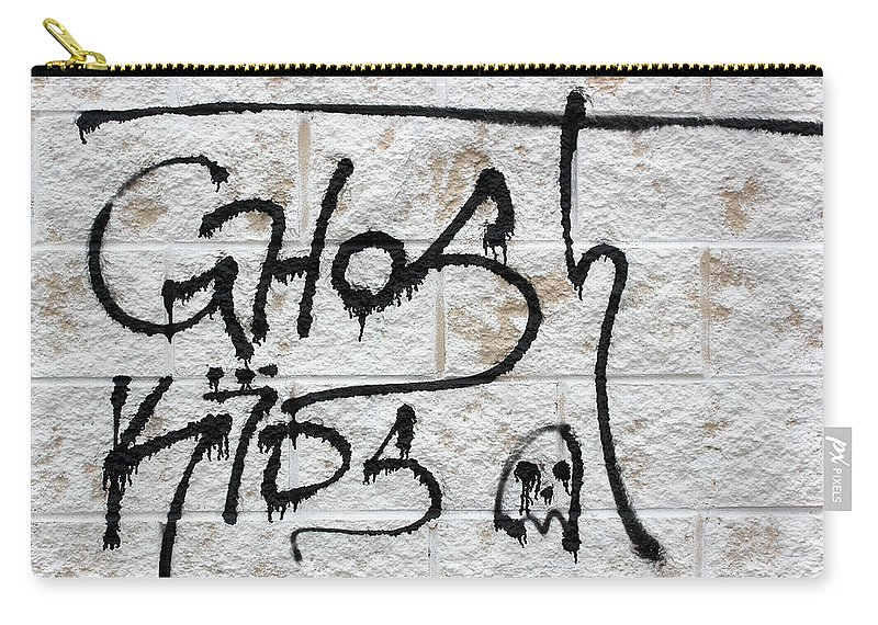 Graffiti Carry-all Pouch featuring the photograph Ghost Kids 2 by Mary Bedy