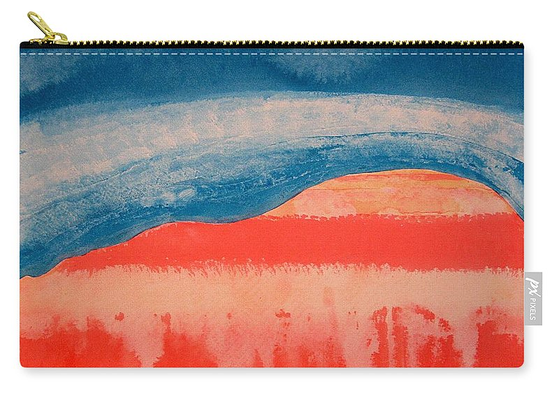 Georgia O'keeffe Carry-all Pouch featuring the painting Ghost Ranch Original Painting by Sol Luckman