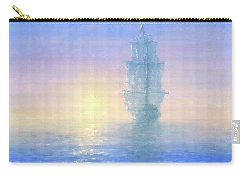 Art Carry-all Pouch featuring the digital art Ghost Ship by Pobytov