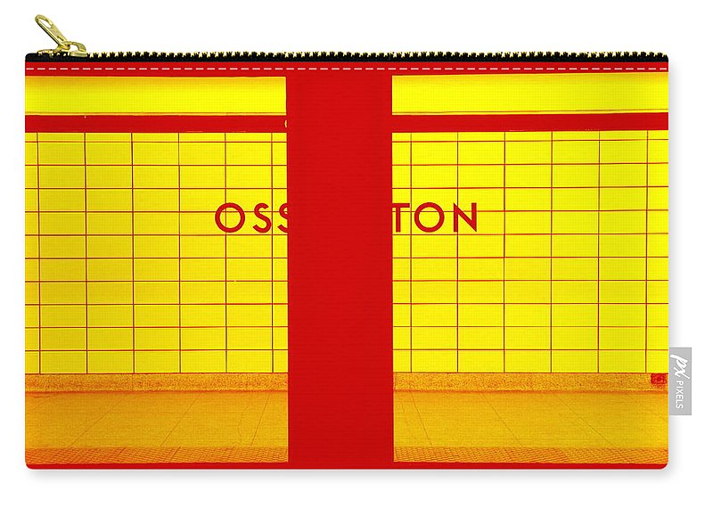 Ghost Carry-all Pouch featuring the photograph Ghost Station In Red And Yellow by Valentino Visentini
