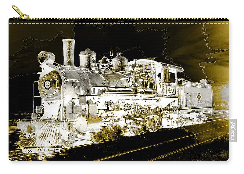 Steam Carry-all Pouch featuring the photograph Ghost Train by Gunter Nezhoda