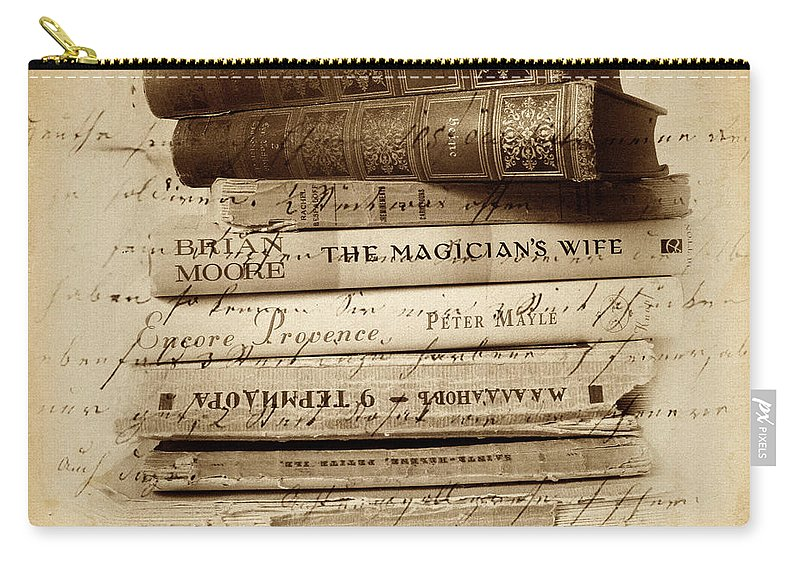 Books Carry-all Pouch featuring the photograph Ghost Writer by Jessica Jenney