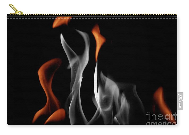 Fire Carry-all Pouch featuring the photograph Ghostly Flames by Rick Monyahan