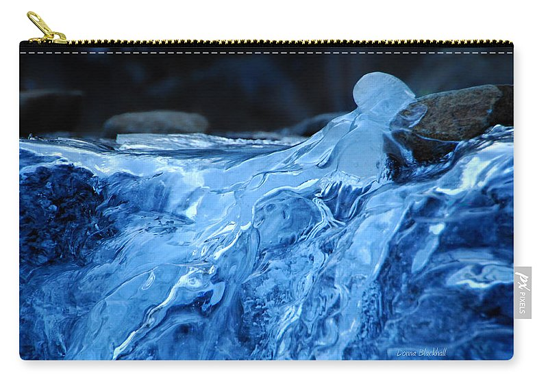 Ice Carry-all Pouch featuring the photograph Ghostly Ice by Donna Blackhall