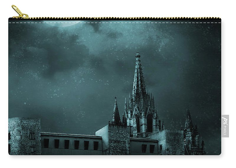 Gothic Style Carry-all Pouch featuring the photograph Ghosts In The Empty Town by Vladgans