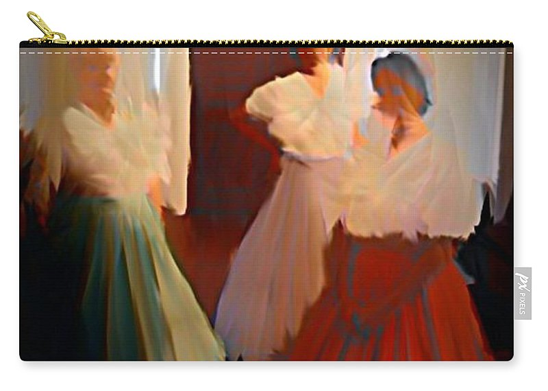 Ghosts Of A Louisianna Plantation Carry-all Pouch featuring the digital art Ghosts Of A Louisianna Plantation by John Malone