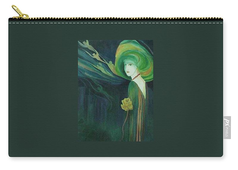 Women Carry-all Pouch featuring the painting My Haunted Past by Carolyn LeGrand