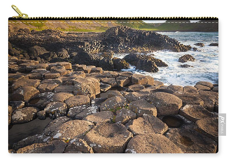 Europe Carry-all Pouch featuring the photograph Giant's Causeway Circle Of Stones by Inge Johnsson