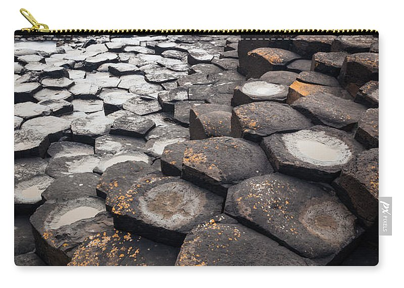Europe Carry-all Pouch featuring the photograph Giant's Causeway Hexagons by Inge Johnsson