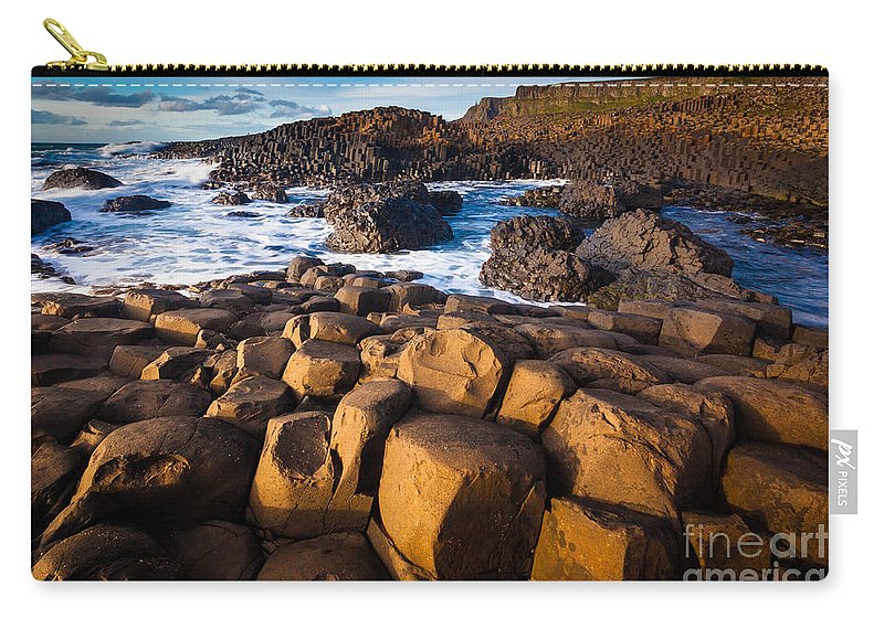 Europe Carry-all Pouch featuring the photograph Giant's Causeway Surf by Inge Johnsson