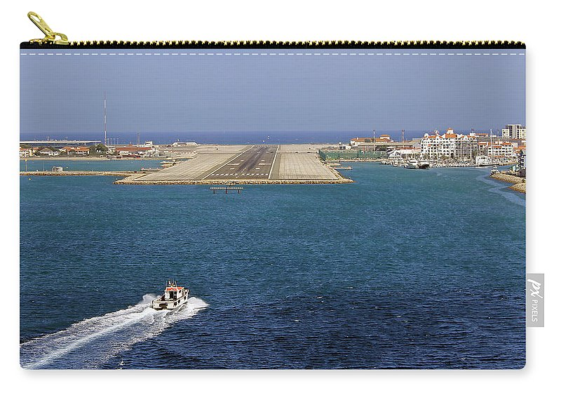Gibraltar International Airport Carry-all Pouch featuring the photograph Gibraltar International Airport by Tony Murtagh