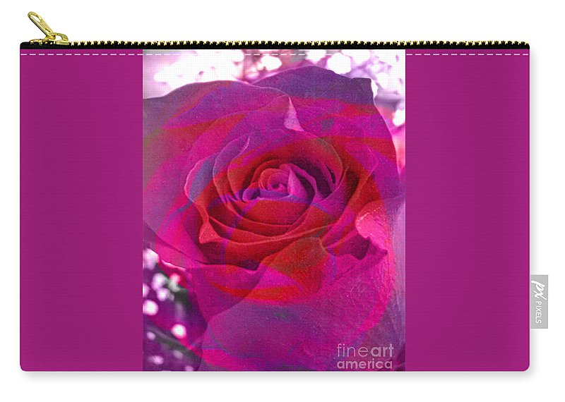 Digital Image Carry-all Pouch featuring the digital art Gift Of The Heart by Yael VanGruber