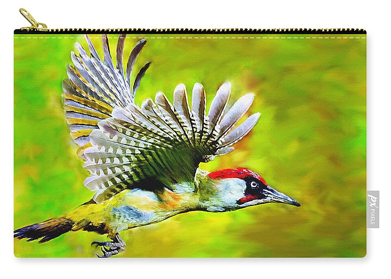 Arizona Carry-all Pouch featuring the painting Gila Woodpecker by Bob and Nadine Johnston