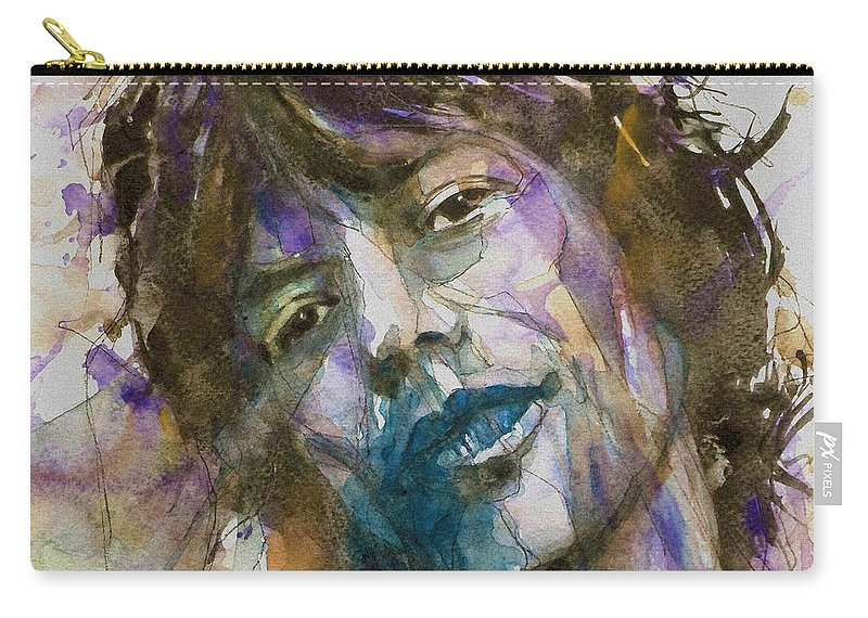 Rolling Stones Carry-all Pouch featuring the painting Gimme Shelter by Paul Lovering