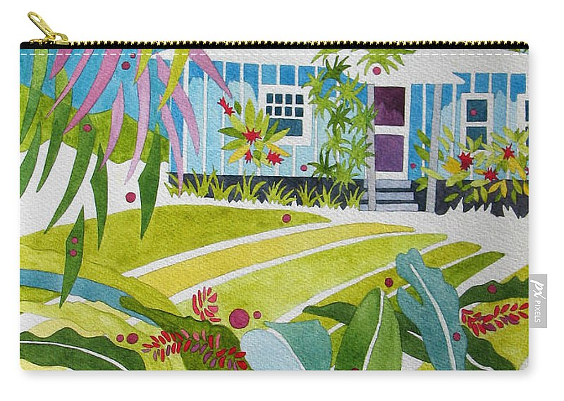 Nature Carry-all Pouch featuring the painting Ginger Cottage by Sherri Bails