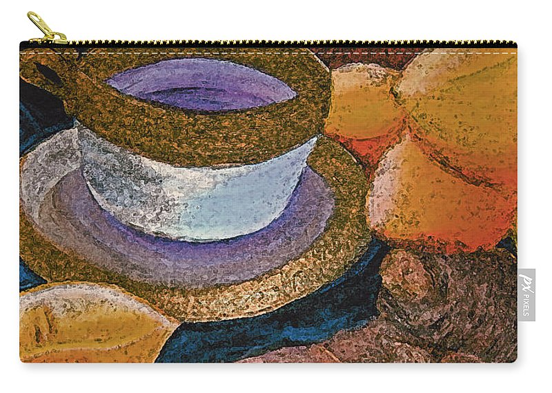 First Star Art Carry-all Pouch featuring the painting Ginger Lemon Tea 2 By Jrr by First Star Art