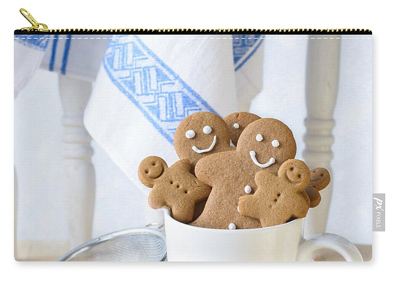 Ginger Carry-all Pouch featuring the photograph Gingerbread Biscuits by Amanda Elwell