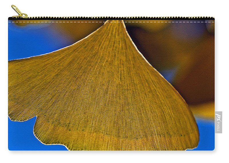 Gingko Leaf Carry-all Pouch featuring the photograph Gingko Leaf Losing Chlorophyll by Bill Owen