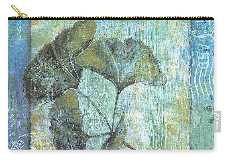 Ginkgo Carry-all Pouch featuring the painting Gingko Spa 2 by Debbie DeWitt