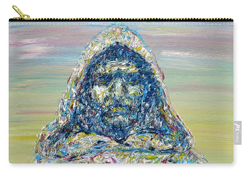 Giordano Bruno Carry-all Pouch featuring the painting Giordano Bruno by Fabrizio Cassetta