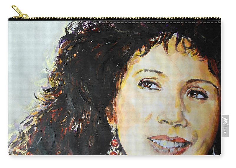 Carmen Carry-all Pouch featuring the painting Gipsy by Lucia Hoogervorst