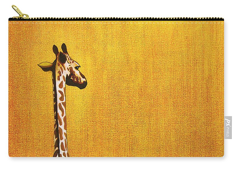Giraffe Carry-all Pouch featuring the painting Giraffe Looking Back by Jerome Stumphauzer