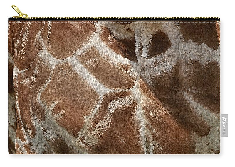 Giraffe Pattern Carry-all Pouch featuring the photograph Giraffe Patterns by Dan Sproul