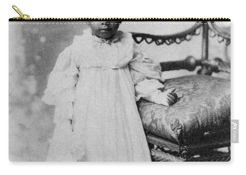 1900 Carry-all Pouch featuring the photograph Girl, 19th Century by Granger
