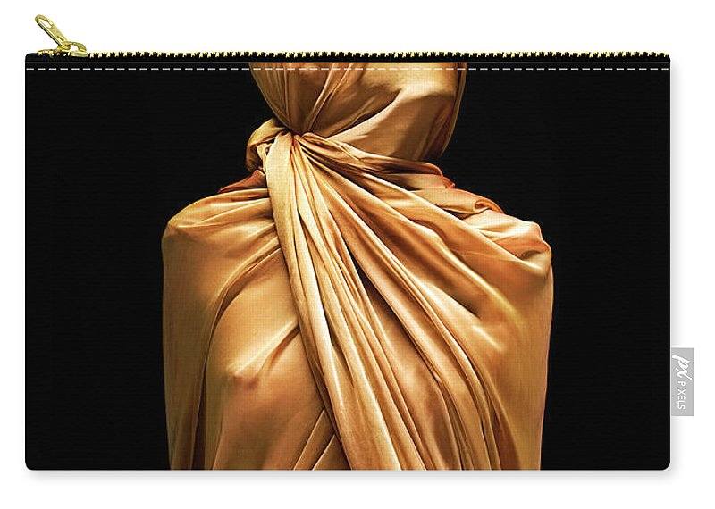 Punishment Carry-all Pouch featuring the photograph Girl Boundcovered In Silk by Peter Dazeley