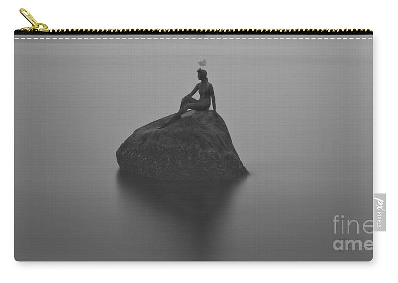 Stanley Park Carry-all Pouch featuring the photograph Girl In A Wet Suit by Rod Wiens
