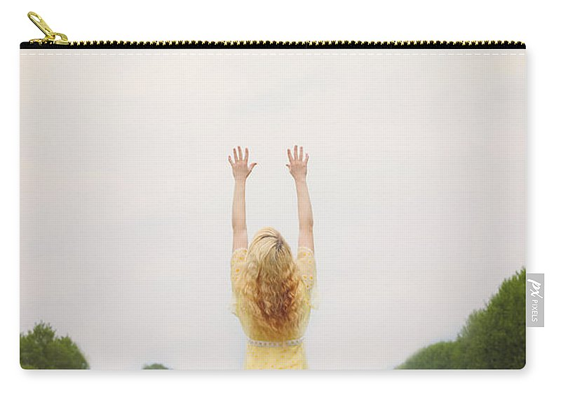 Woman Carry-all Pouch featuring the photograph Girl On Meadow by Joana Kruse