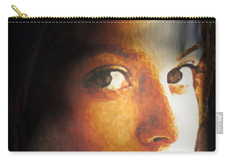 Abstract Carry-all Pouch featuring the painting Girl Sans Variant by Richard Thomas