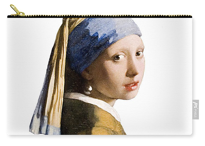 Vermeer Carry-all Pouch featuring the photograph Girl With Pearl Earring Flip Side by Peter Lloyd