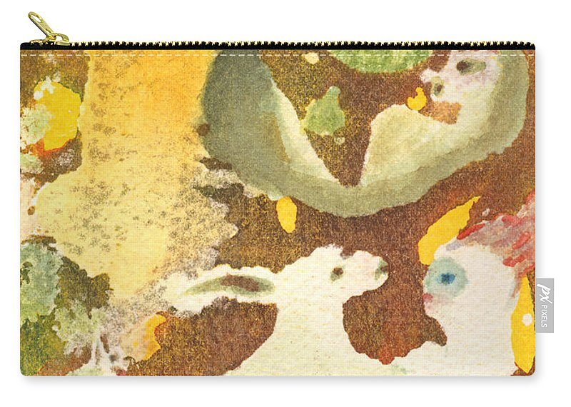 Rabbit Carry-all Pouch featuring the painting Girl With Rabbits by Phyllis Brady