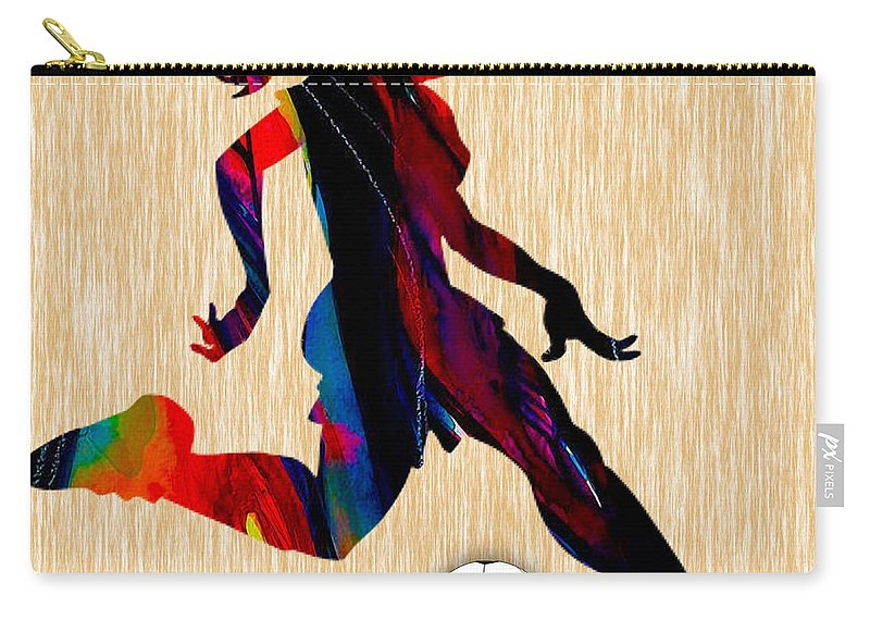 Soccer Carry-all Pouch featuring the mixed media Girls Soccer by Marvin Blaine