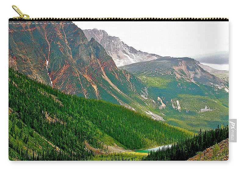 Glacier Area By Mount Edith Cavelle In Jasper Np Carry-all Pouch featuring the photograph Glacier Area By Mount Edith Cavelle In Jasper Np-alberta by Ruth Hager