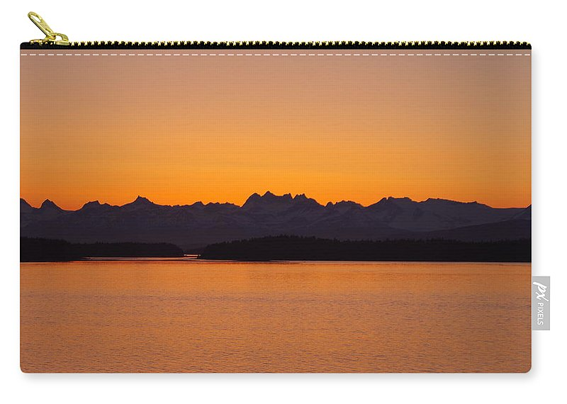 Sunrise Carry-all Pouch featuring the photograph Glacier Bay Sunrise by Mike Wheeler