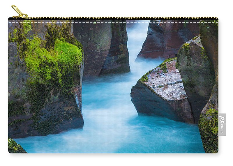 America Carry-all Pouch featuring the photograph Glacier Gorge by Inge Johnsson