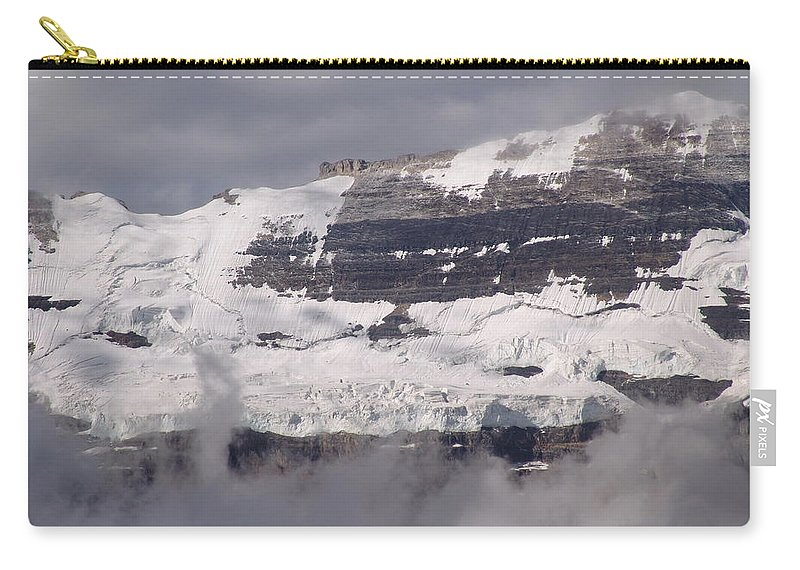 Mountain Carry-all Pouch featuring the photograph Victoria Glacier Mist - Lake Louise, Alberta by Ian Mcadie