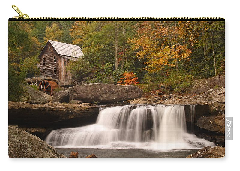 Glade Carry-all Pouch featuring the photograph Glade Creek Grist Mill 10 by John Brueske