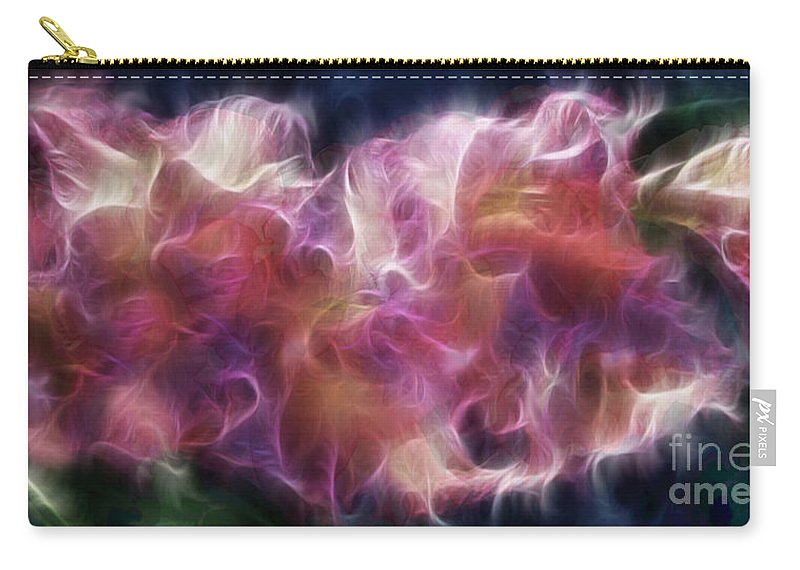 Gladiola Carry-all Pouch featuring the digital art Gladiola Nebula by Peter Piatt
