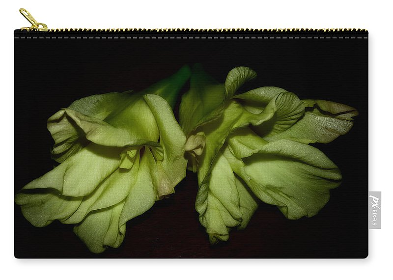 Gladiolus Carry-all Pouch featuring the photograph Gladiolus In Shadows by Paulina Roybal