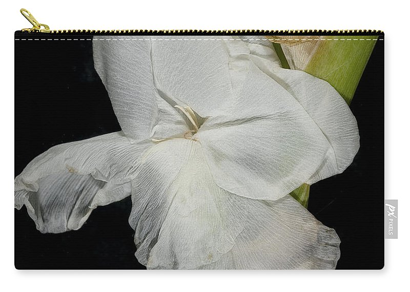 Flower Carry-all Pouch featuring the photograph Gladiolus Past Time by David Stone