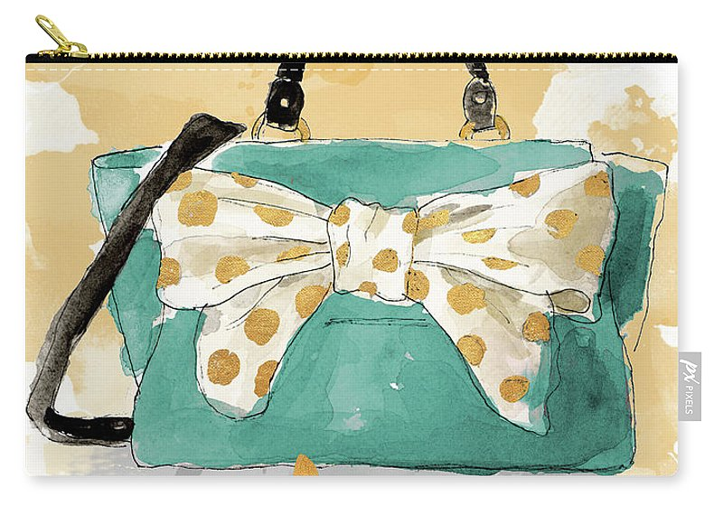 Glam Carry-all Pouch featuring the painting Glam Purse by Lanie Loreth