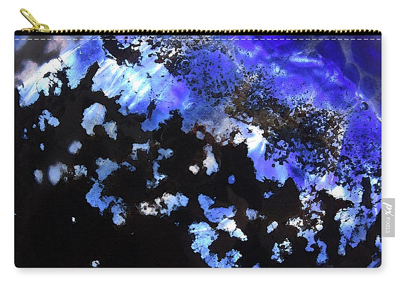 Glass Carry-all Pouch featuring the photograph Glass Abstract 1 by Mary Bedy